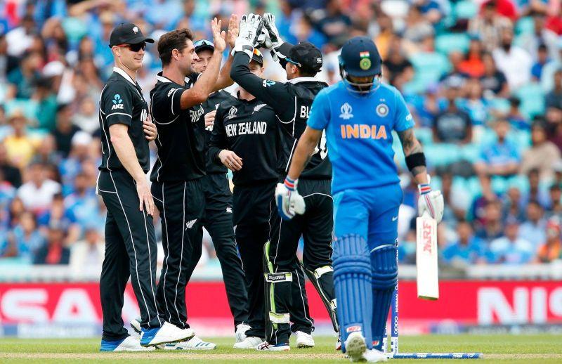 विश्वकप क्रिकेट-भारत सेमिफाईनलबाटै आउट, न्यूजिल्याण्ड १८ रनले हराउँदै फाईनलमा प्रवेश