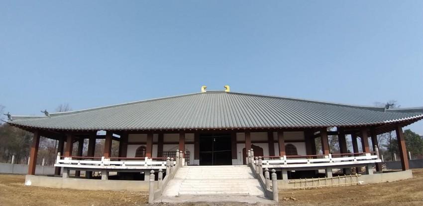 बुद्ध जन्मस्थल लुम्बिनिमा जापानी शैलीको बुद्ध मन्दिर निर्माण