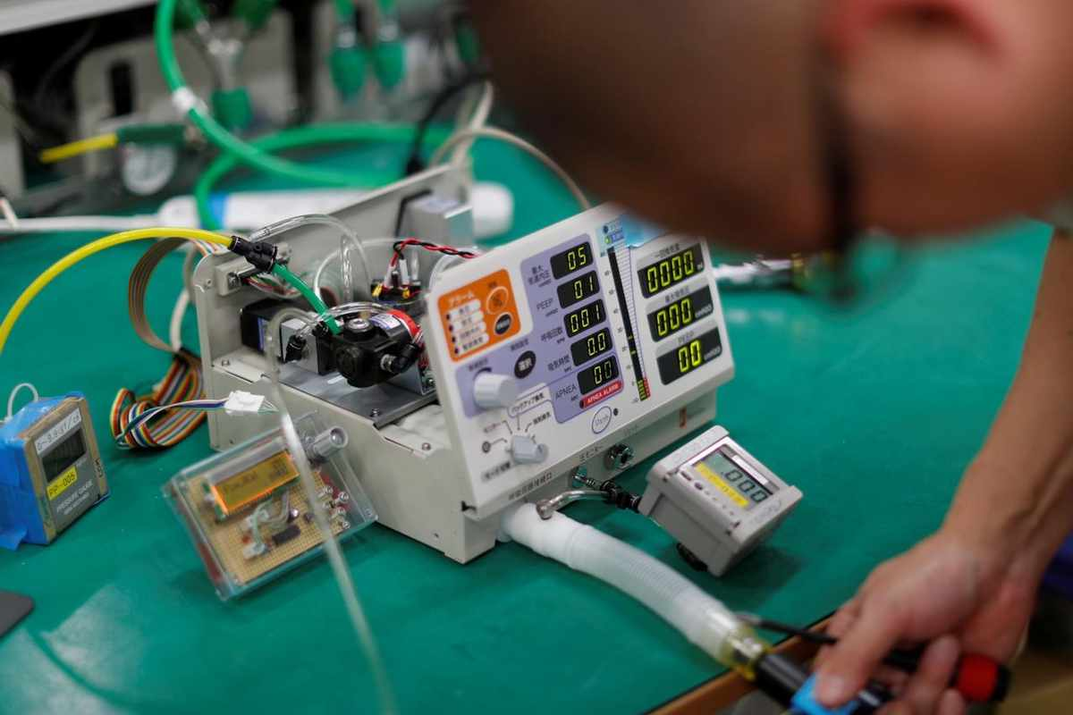 जापानमा ९० प्रतिशत सस्तो र प्रयोग गर्न सहज भेन्टिलेटरको विकास