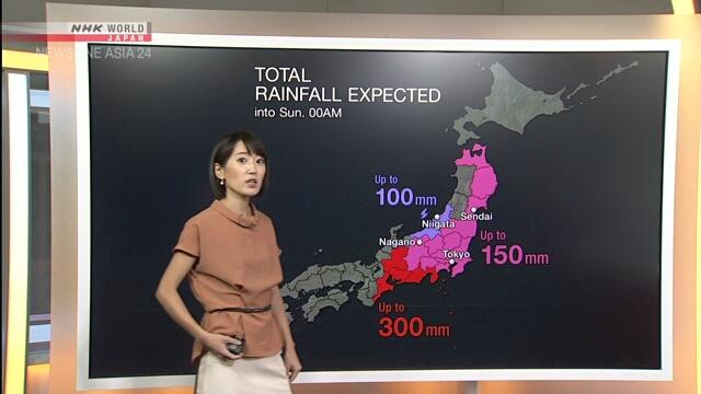 ताईफुबाट प्रभावित यि क्षेत्रमा शुक्रबार साँझबाट शनिबार रातीसम्म भारी बर्षा हुँदै, सचेत रहनुहोला