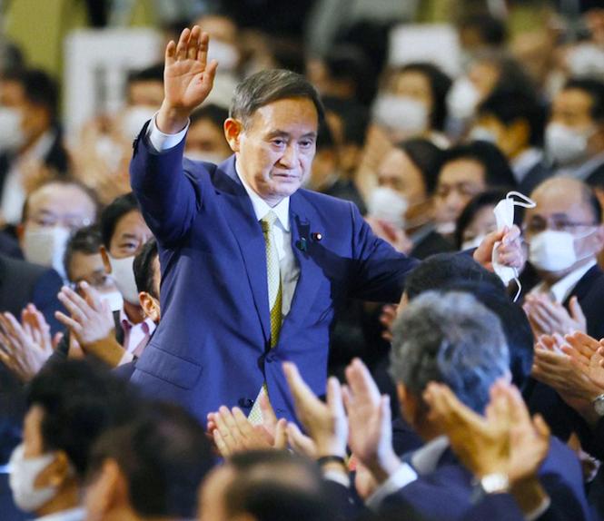 सुगा जापानको भावी प्रधानमन्त्री, एलडिपी पार्टी अध्यक्षमा बिजयी