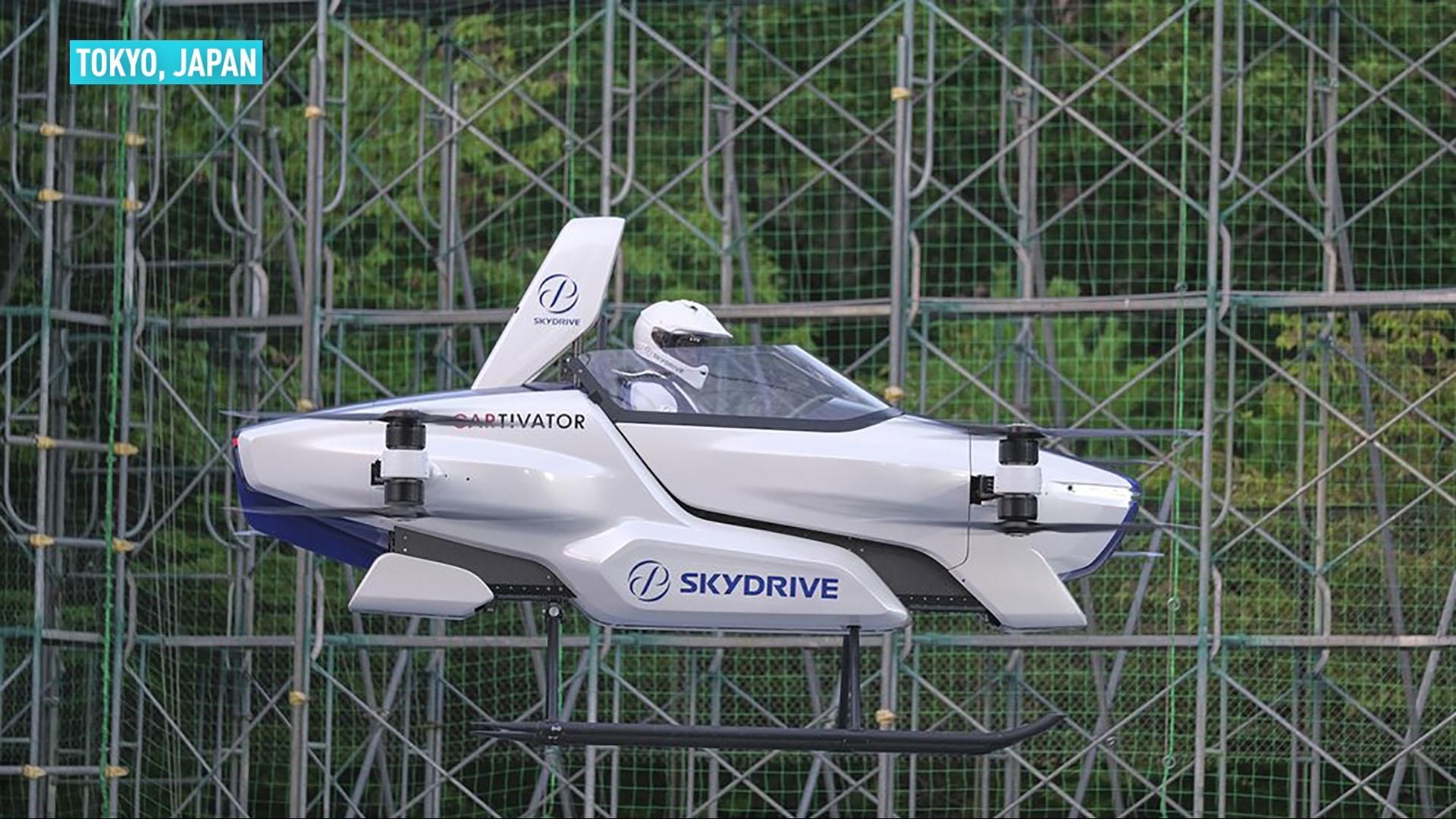जापानी प्रबिधिको अर्को फड्को-'स्काई ड्राइभ' अर्थात उड्ने कारले सफलता पायो