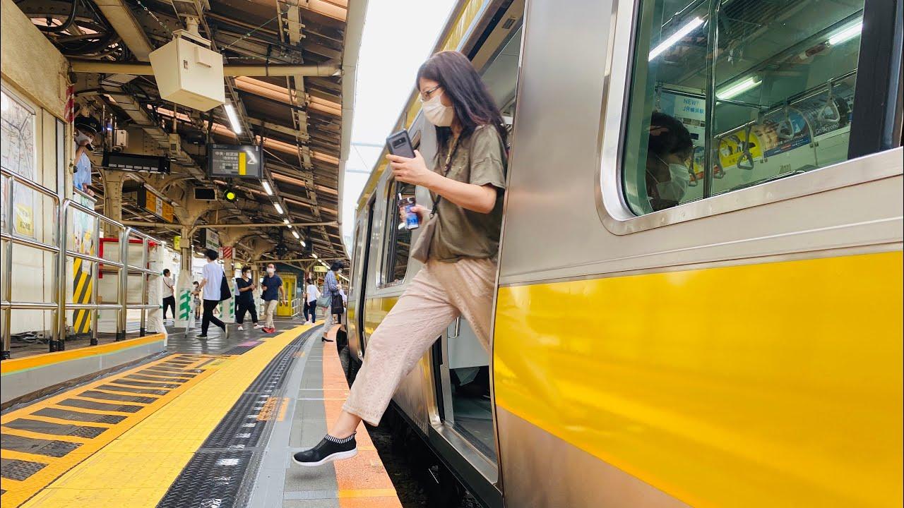 JR Iidabashi Station, Tokyo || New Train station in Tokyo || dangerous station || Reiwa 2 July 11