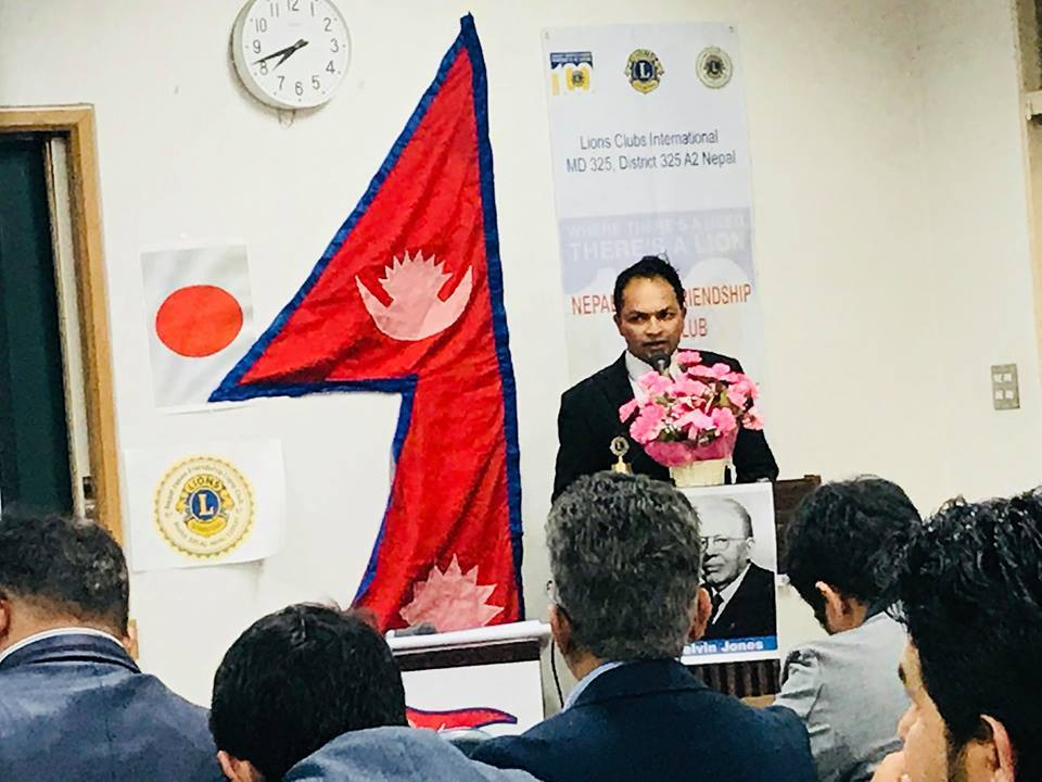 नेपाल जापान फ्रेन्डसिप लायन्सको अध्यक्षमा अर्जुन थापा सहित ३५ सदस्यीय कार्यसमिति चयन