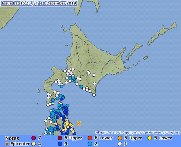 जापानको आओमोरीमा ५.५ रेक्टरको भूकम्प, थप भूकम्पको चेतावनी-सुनामी खतरा छैन